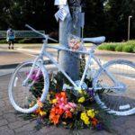 Memorial to Arlene Sasse at Carlson Drive & J St.