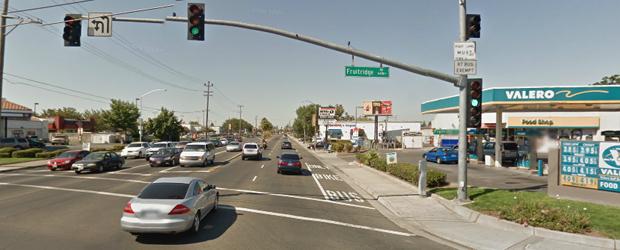 Northbound Stockton Blvd.  at Fruitridge Rd.