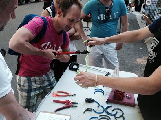 Cutting cable locks at 2nd Saturday