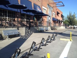 Bike docks on R St. at 10th