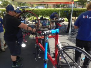 SABA staffs the North Natomas Transportation Management Association's Bike Doc program, where SABA mechanics provide free diagnostics and basic repairs to North Natomas residents. We'll introduce those services into other neighborhoods during 2017.