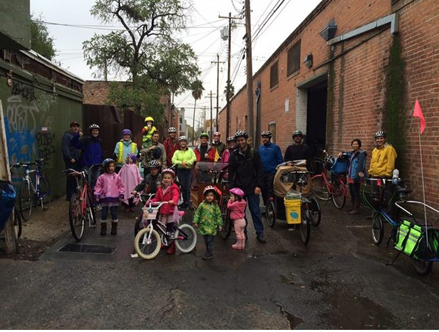 Sacramento Kidical Mass brings together families and bikes for fun and health.
