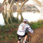 Off-road bicycling is allowed along Lake Natoma.