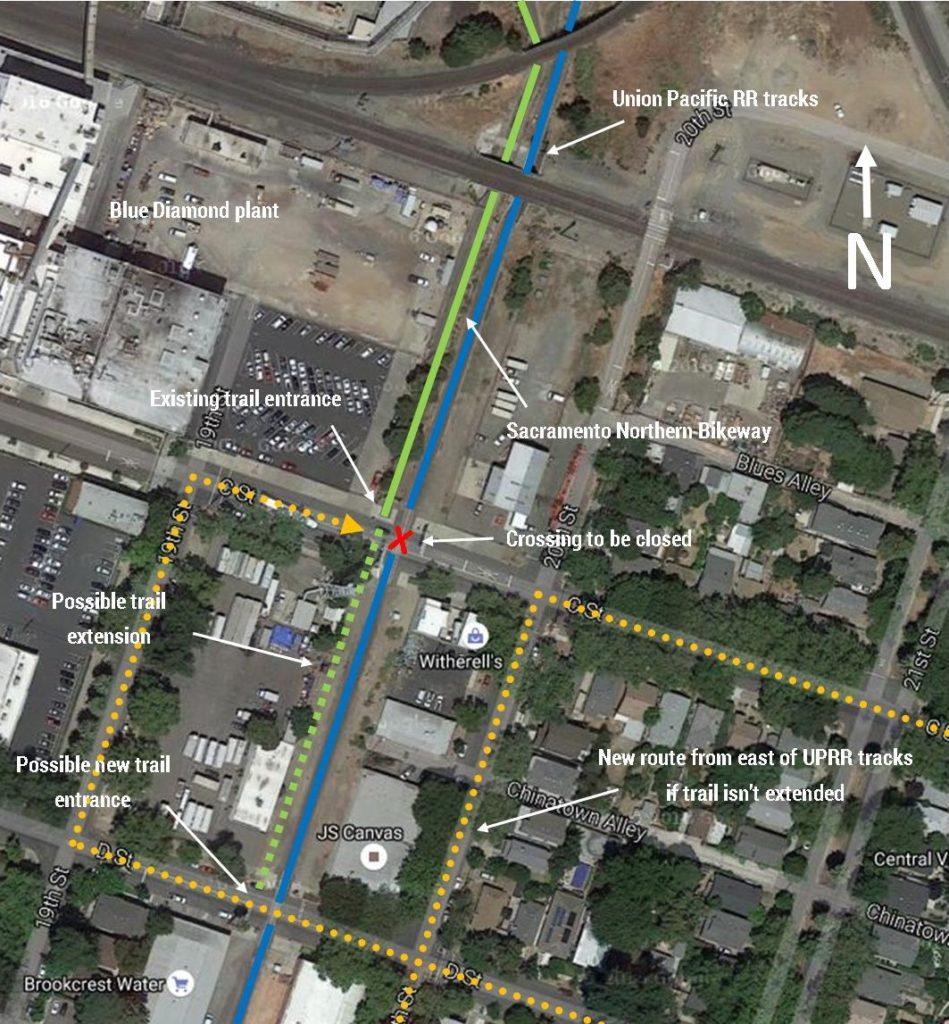 C Street closure aerial