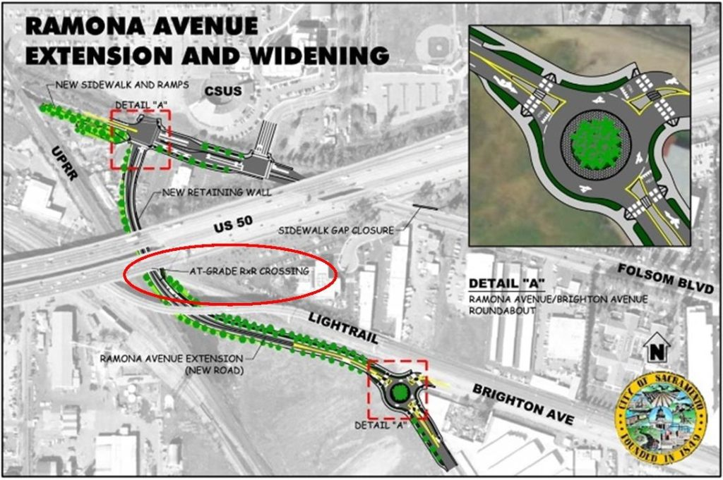 Ramona Ave. map