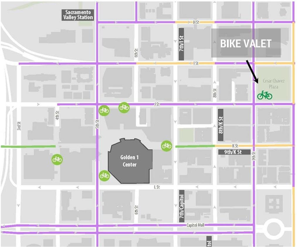 Golden 1 Center Bike Valet Sacramento Area Bicycle Advocates