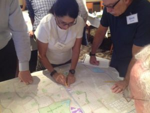 Bicycle Master Plan workshop in North Natomas